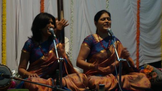Priya Sisters at concert